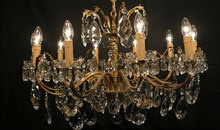 Gloucestershire Shopping Antiques - Antique Crystal Chandeliers