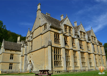 The unfinished gothic Woodchester Mansion, Nympsfield